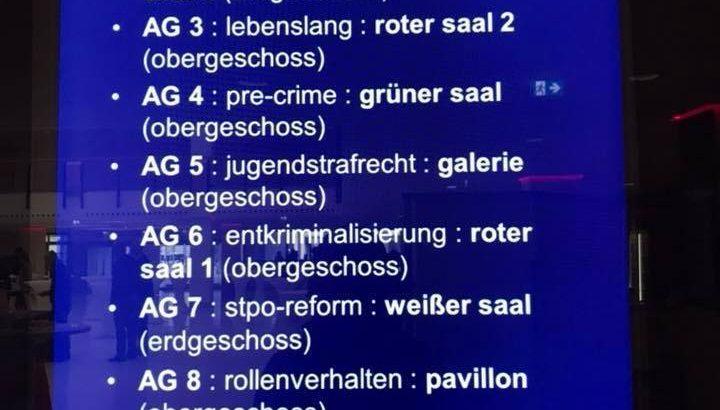 Strafverteidigertag 2018 Arbeitsgemeinschaften